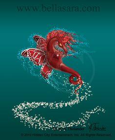 Ticklebit - Moonfairies by MiniBaah on DeviantArt Silver Wings, Red Gemstones, Magical Creatures, Inspirational Message, Horse Art, Fantasy, Moonlight, Dragon, Fandom