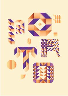 """The goal was to create a typographic approach in honor to Oporto for a new design shop based in this same city called """"Take Away Porto"""""""
