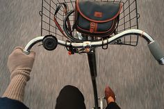 I want the wind in my face, this bag in my basket, and this bike as my main mode of transportation. Hot wheels!