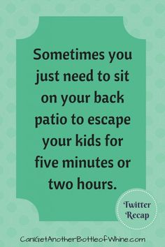 Everyone deserves a break and your patio or deck is the perfect place for some peace and quiet! Pin if you can relate.