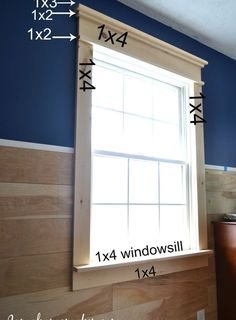 Diy Farmhouse Window Trim TUT Wood Moulding Cornice Frame Window Interior  Window Jam Sill What To Use For A Farmhouse Window Architectural Accents  Decor ...