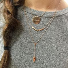"""Need Now: New rose gold engravable necklaces means our layering options just got way more fun. """"Like"""" if youve been patiently waiting for more rose gold like we have!"""