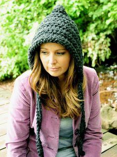 Crochet Hat for Women, Gnome Hat, Pixie Hat, Winter Fashion, Fall Fashion, Christmas Hat. $35.00, via Etsy.