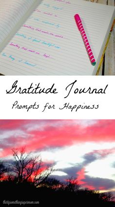 These Gratitude Journal Prompts for Happiness will have your ideas flowing and give you a new perspective on life. #40Pounds #ad