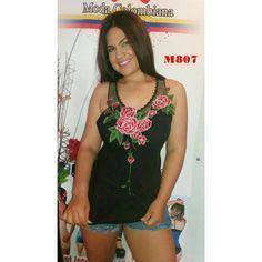 BLUSA COLOMBIANA M807  TALLA: TALLA UNICA, COLOR: NEGRO, TALLA: TALLA UNICA, COLOR: ROJO  PRECIO: 24,99€  Disponible en nuestra página web www.mayret.com