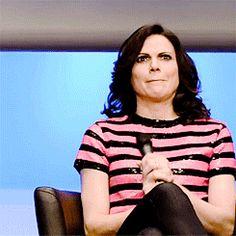 "Jared: ""Regina has to decide between her son and killing Emma."" Lana: *imaginary coin-flip*  Gotta love her!"