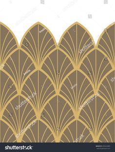 Border Seamless ornament in Art Nouveau style
