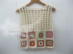 Crochet Granny Square Tank Top Crochet Multi by Tinacrochetstudio