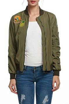 a87b38be565 Zeagoo Womens Classic Quilted Jacket Short Patch Bomber Jacket at Amazon  Women's Coats Shop