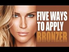 5 ways to apply bronzer (summer glow tutorial). Bronzer Tips, How To Apply Bronzer, Bronzer Makeup, Best Bronzer, Eye Makeup, Makeup Tips, Beauty Makeup, Hair Beauty, Beauty Tips