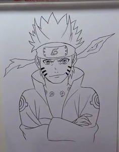 Naruto Drawings Easy, Naruto Sketch Drawing, Anime Drawings Sketches, Anime Sketch, Naruto Uzumaki, Naruto Art, Manga Anime, Anime Art, Naruto Painting
