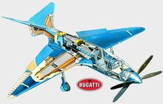 """Bugatti 100P, """"the most elegant and technologically-advanced airplane of its time"""" - Earth66.com"""