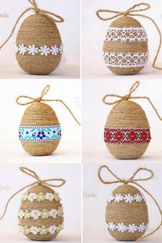 Rustic Easter eggs. I love the natural color with the white touch. Perfect for our Easter basket. #ad #easteregg #decoration #homedecor #holiday #Easterbasket