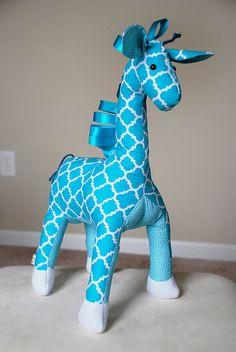 Teal Giraffe Plush Toy - Stuffed Giraffe Toy - Blue Giraffe Plushy - Giraffe Companion - Giraffe Safari Theme Nursery - Baby Shower Gift
