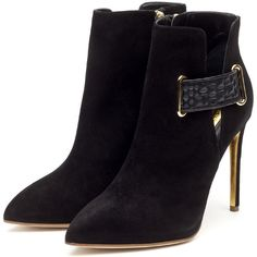 Rupert Sanderson High Heel Slim Platform Ankle Boots and other apparel, accessories and trends. Browse and shop 41 related looks. Black Platform Boots, Black Suede Boots, Suede Ankle Boots, High Heel Boots, Ankle Booties, Heeled Boots, High Heels, Black Booties, Women's Boots