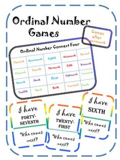 1000+ images about Ordinal Numbers on Pinterest | Ordinal Numbers ...