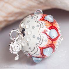 GlassBonBon Artisan Glass Bead Ooak Lampwork Beads by Glassbonbon Polymer Clay Beads, Lampwork Beads, Venetian Glass, Handmade Beads, How To Make Beads, Bead Art, Beading Patterns, Round Beads, Glass Beads