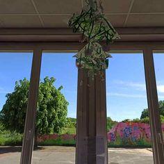 Jardin suspendu de printemps Feuille A3, Arch, Outdoor Structures, Curtains, Decor, Gardens, Grasses, Spring, Longbow