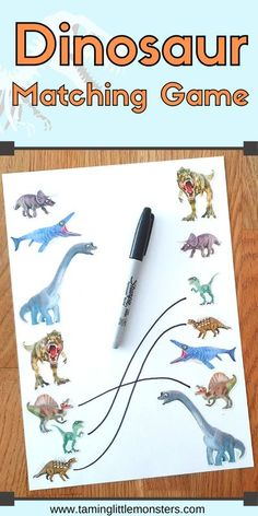 With a set of dinosaur stickers, you can create this dinosaur stickers matching game for preschoolers in 2 minutes. This is a fantastic no-prep activity for kids who love dinosaurs and need to develop some fine motor skills while they play.  Preschool | preschooler | dinosaur | sticker match | fine motor Dinosaur Crafts Kids, Dinosaur Classroom, Dinosaur Games, Dinosaurs Preschool, Dinosaur Activities, Preschool Activities, Educational Activities For Preschoolers, Fine Motor Activities For Kids, Quiet Time Activities