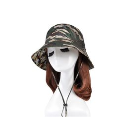 92ee37071c0 Custom Nylon Camouflage Bucket Hat Wholesale The MOQ is 500pcs per  design color style