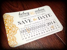 Calendar Save the Date Postcard Printable by SimpleandStunning2, $15.00