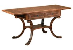 Gideon Library Table, Walnut