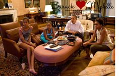 All I can do is just smile.  President Obama and his daughters Sasha and Malia watch the World Cup soccer game between the U.S. and Japan, from the Treaty Room office in the residence of the White House, Sunday, July 17, 2011. #family #downtoearth