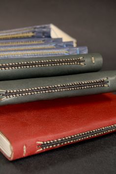 Leather journals by Johanna Smick of Monkfish Bindery