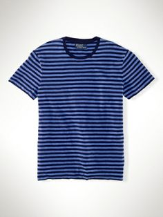 Custom-Fit Striped T-Shirt - Polo Ralph Lauren T-Shirts  - Ralph Lauren France