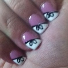 Cute Bow Nails<3