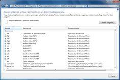 Cambiar el programa predeterminado en Windows 7 o Vista