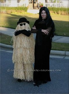 Cousin It Wig   Cool Homemade Cousin Itt Costume ... This website is the Pinterest of ..