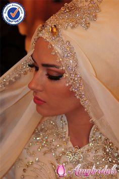 SA6297 Brilliant islamic wedding dresses hijab