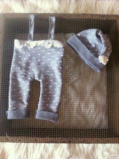 newborn photo prop romper girl slouch hat lace by PeekABooProps