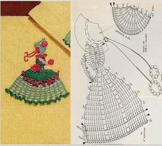 TRICO y CROCHET-assorted appliques.if you can read charts then you don't need to translate Crochet Diy, Crochet Quilt, Crochet Doily Patterns, Crochet Girls, Applique Patterns, Thread Crochet, Love Crochet, Crochet Motif, Vintage Crochet