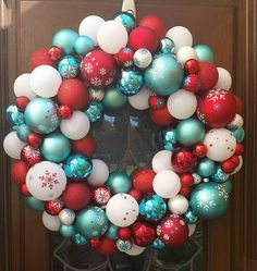 Check out this item in my Etsy shop https://www.etsy.com/listing/259817169/aqua-red-and-white-christmas-ornament