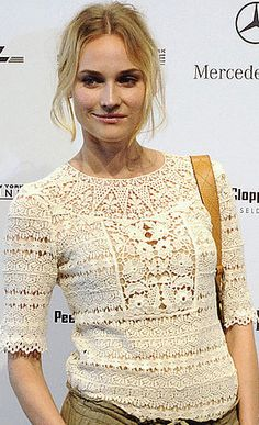 25 Celebrities spotted in Crochet ~ Diane Kruger