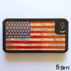 4th of July custom iPhone case using notecard - frām