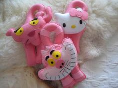 Pink Panther, hello kitty and Cheshire cat