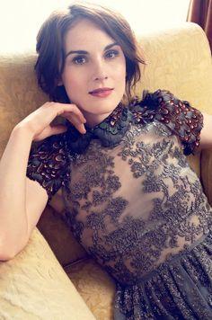 Harper's Bazaar Downton Abbey - Michelle Dockery - Alexi Lubomirski - 2014 makeup by Lisa Eldridge