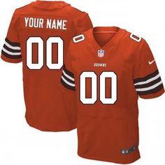 custom nike cleveland browns burnt orange alternate jersey