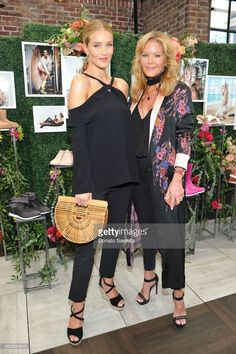 Host Rosie Huntington-Whiteley and Paige Adams-Geller attend UGG SS17 campaign luncheon hosted by Rosie Huntington-Whiteley and Rachel Zoe at Catch LA. on March 15, 2017 in Los Angeles, California.