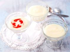 Perinteinen maitokiisseli Dessert Recipes, Desserts, Sorbet, Glass Of Milk, Mousse, Panna Cotta, Sweet Treats, Food And Drink, Ice Cream