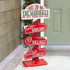 Santa Stop Here North Pole Personalized Sign - 16357 Office Christmas, Christmas Gifts For Mom, Christmas Wood, All Things Christmas, Handmade Christmas, Holiday Crafts, Christmas Time, Christmas Ornaments, Hygge Christmas