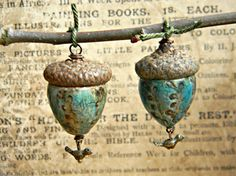 Enchanted acorn pendants by woodlandjewelries on Etsy