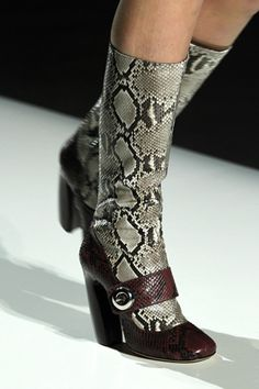 Prada Mary Jane python boots. These are so weird, but I love them.