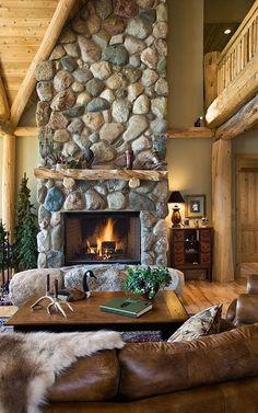 stone fireplace #7