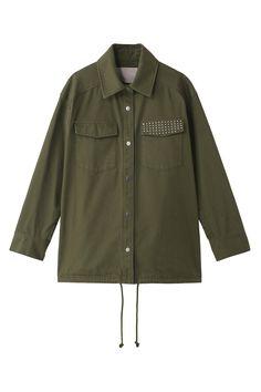 【ELLE SHOP】オーバーサイズミリタリーシャツジャケットカーキグリーン トランテアン ソン ドゥ モード(31 Sons de mode) エル・ショップ