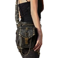 The original patent a foreign hot Steampunk travel Satchel Bag and retro pockets of one generation