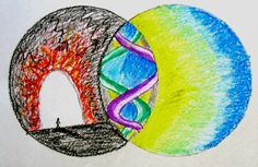 The place between hope and despair -- image created in one of my classes with Deborah Schroder at SWC. (by Laura L. Lansrud-Lopez)